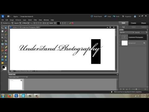 How to Bend Text in Photoshop Elements 9 : Photoshop CS6 & Elements
