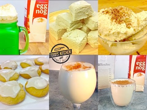 Best Eggnog Recipes - How to make Eggnog, fudge, cookies, mocha latte, smoothie
