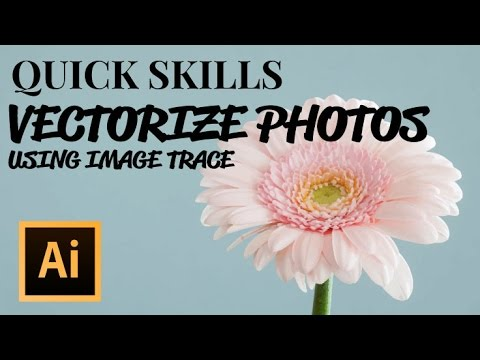 How to Vectorize Photos in Illustrator using Image Trace
