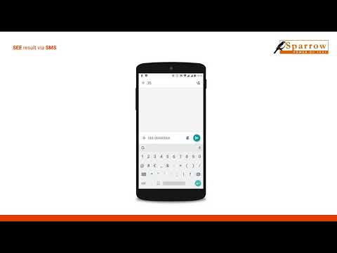 How to check SEE result 2074/2075 via SMS - Sparrow SMS