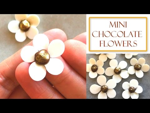How to make Mini Chocolate Flowers | Simple & Easy