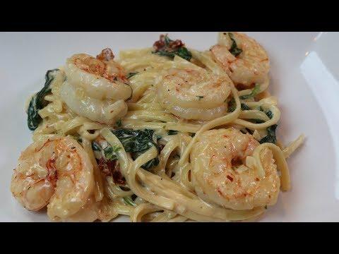 Shrimp Fettuccine Alfredo Recipe - How to Make Fettuccine Alfredo