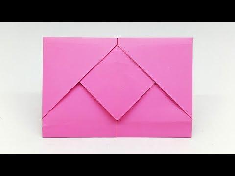 Surprise Envelope making tutorial with Paper (Origami Envelope)