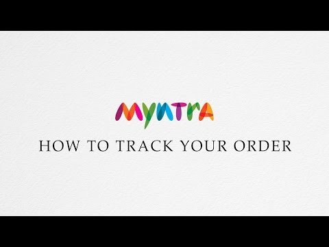 How to track an order @ Myntra.com