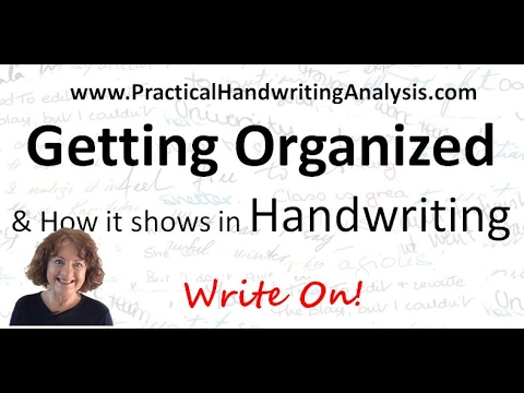 Organized and how it shows in Handwriting Analysis Graphology