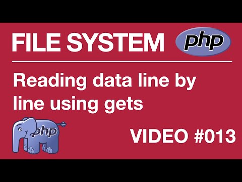 Lesson 13 PHP - File Systems - fopen and fgets functions, Read Data Line by Line