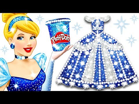 How To Make Play Doh Sparkle Dress For Disney Princess Cinderella