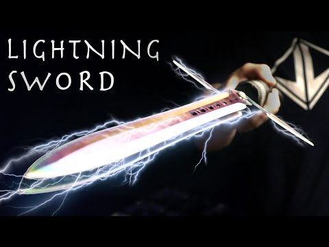 How To Make a LIGHTNING SWORD! - Electric Taser Sword, Simple Design (⚡SHOCKING Results⚡)