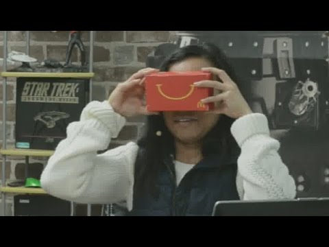 Trying McDonald's Happy Goggles For The First Time - Google Cardboard With Lenses