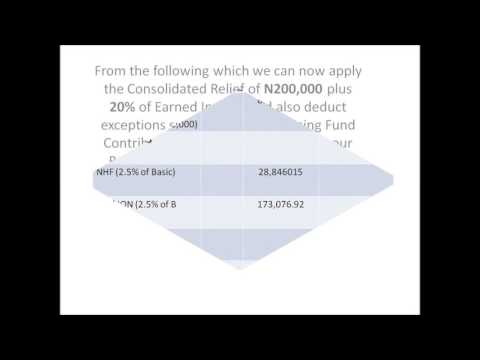 PAYE HOW TO CALCULATE INCOME TAX WITH NIGERIA TAX LAW
