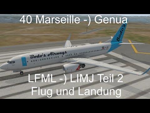 X-PLANE 11, 40: Marseille -) Genua Teil 2, kompletter ATC-Flug
