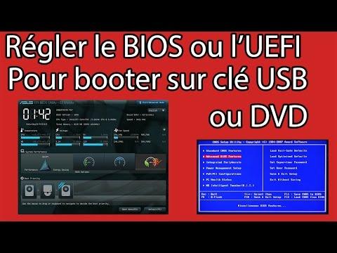 Régler le BIOS ou UEFI pour démarrer sur une clé USB ou un DVD