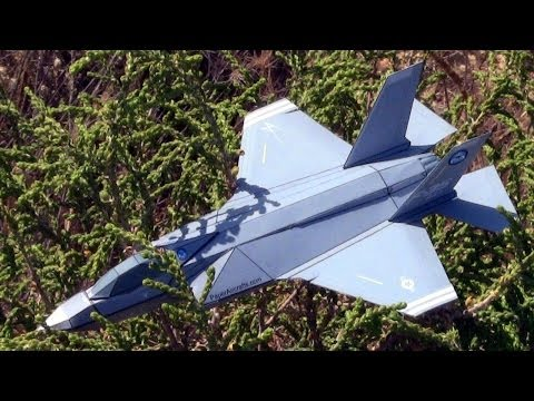 How to make an F-35A Paper airplane 3D model