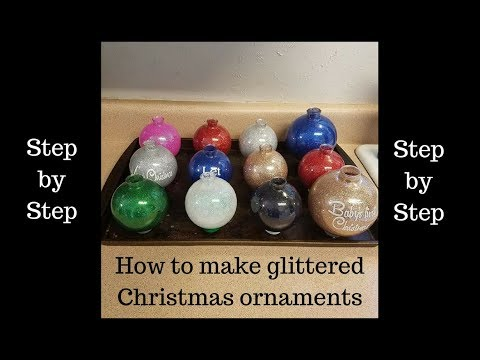 How to make glittered Christmas ornaments