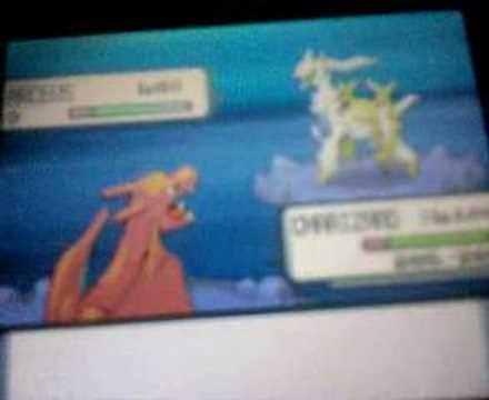 Pokemon Pearl Rebattling Arceus