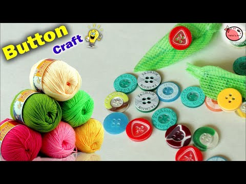 WOW !!! Best out of Waste Button Craft Idea | Flower Pot Making at Home | DIY Room Decor | Handmade