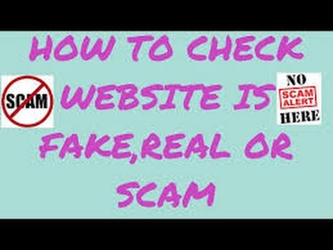 How To Check The Website Is Fake Or Real