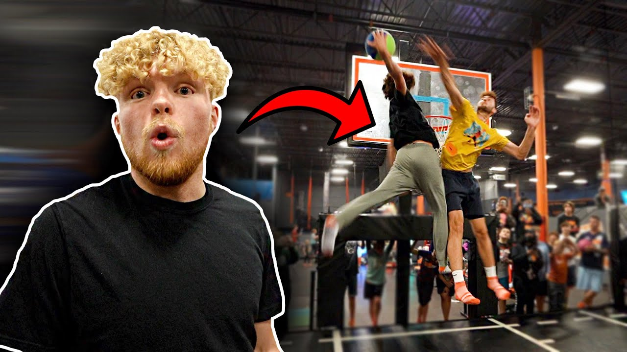 Dunk On 6'10 Big Man, Win $100 At Sky Zone!
