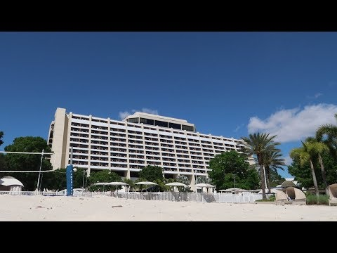 Disney's Contemporary Resort Tour   Hotel Grounds Walking Tour, Food Locations & Outdoor Amenities