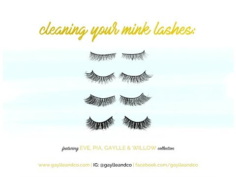 How to Clean Your Mink Lashes | Gaylle and Co
