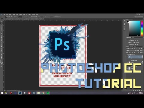 How to create a Poster/Banner/Flyer in Photoshop CS6/CC | 2015 | HD