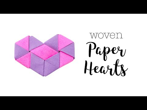 Origami Woven Paper Hearts Tutorial ♥︎ Valentine's DIY ♥︎ Paper Kawaii