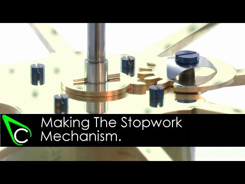 How To Make A Clock In The Home Machine Shop - Part 22 - Making The Stopwork Mechanism