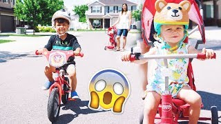 TWO YEAR OLD RIDES BIKE FOR FIRST TIME!