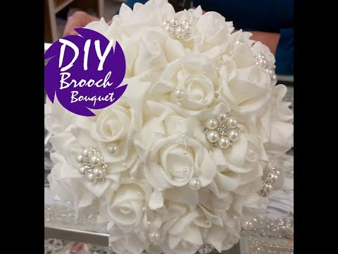 DIY Brooch Bouquet Kit l Easy Inexpensive Bouquet Tutorial l Wedding Crafts I JAMIE