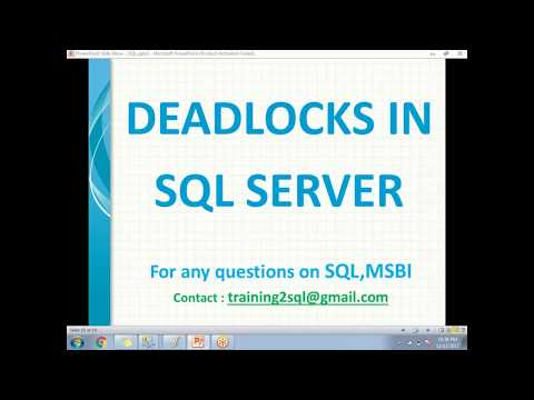 SQL Server Deadlocks