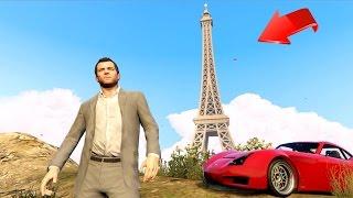 GRAND THEFT AUTO EN PARÍS!! (La Torre Eiffel) - GTA V Mods