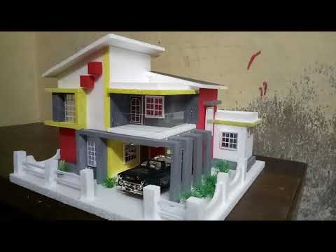 House making by thermocol for school project(8)