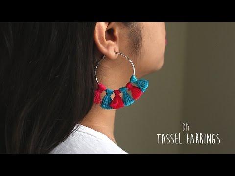 DIY: Easy Tassel Earrings