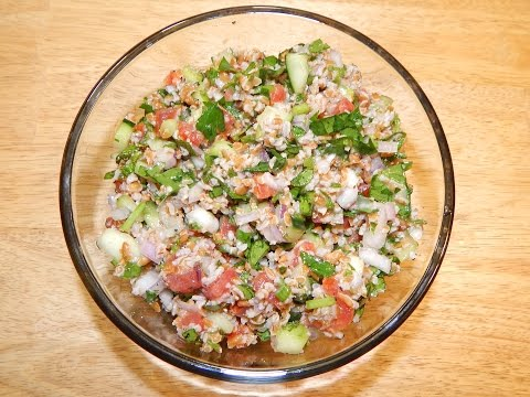 Tabbouleh Salad Recipe - How To Make - Tabouli Recipe