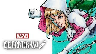 Spider-Gwen swings onto Marvel Quickdraw!