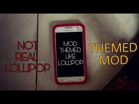 Galaxy Core 2 Lollipop themed mod!(NOT REAL LOLLIPOP)