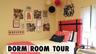 Preppy College Dorm Room Tour!