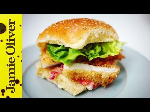 Crunchy Chicken Schnitzel Burger   Aaron Craze