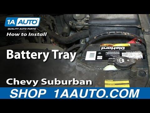 How To Install Replace Battery Tray 2000-06 Chevy Suburban Tahoe GMC Yukon
