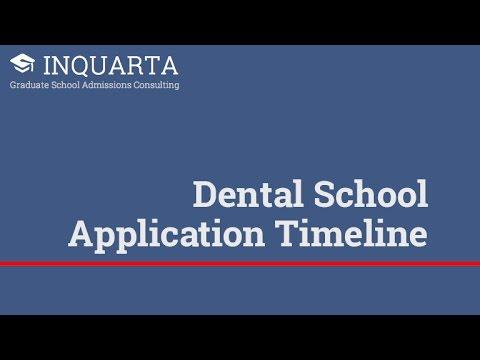 What's the best dental school application timeline?