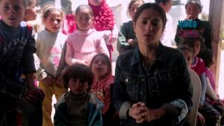 Salma Hayek visits Syrian refugee camp in Lebanon