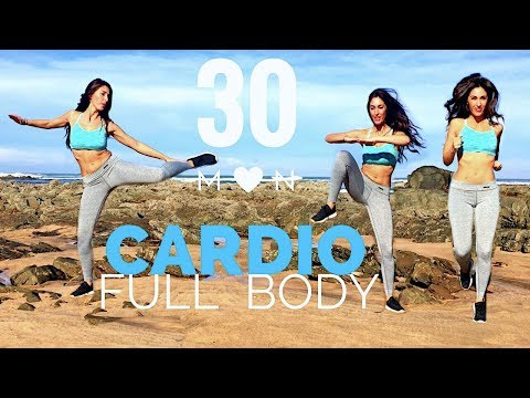 30 Min Fat Burning Cardio Workout | Waist, Hips, Abs, Legs... Full Body