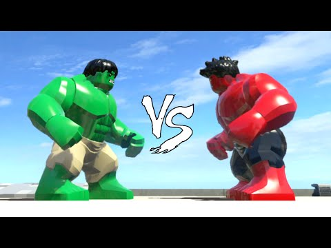 Green Hulk vs Red Hulk - Lego Marvel Super Heroes