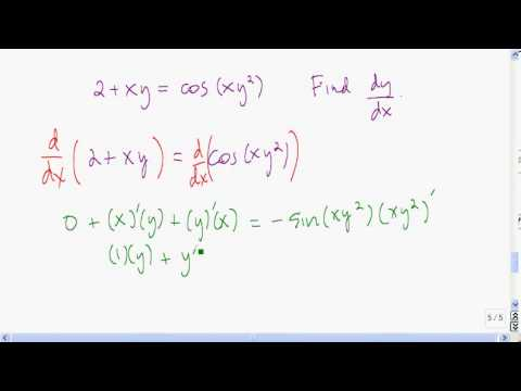Another implicit differentiation example