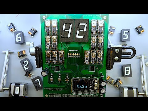Electromechanical Decimal to Binary to Hexadecimal Converter 60FPS