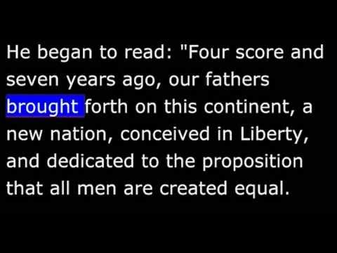 American History - Part 104 - Lincoln - Gettysburg Address