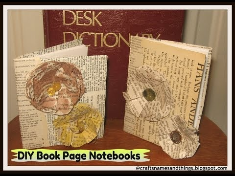 DIY Book Page Paper Flowers/ How to make ELEGANT PAPER ROSE~ Tutorial book pages, paper crafts