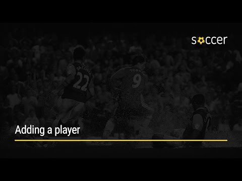 WP Soccer Tutorial: Adding a player