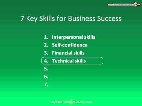 7 Key Entrepreneur Skills And Characteristics