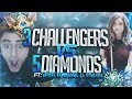 Yassuo | 3 CHALLENGERS VS 5 DIAMOND PLAYERS! Ft. Viper, LL Stylish and Pokimane